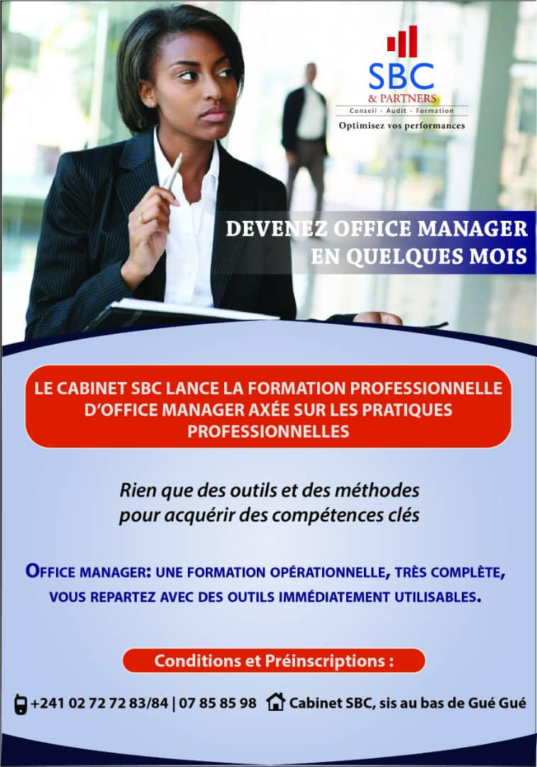 Formation office manager SBC